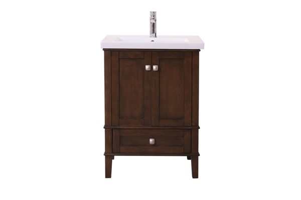 Elegant Decor Aqua Coffee 24 Inch Single Bathroom Vanity Set ELED-VF-2005