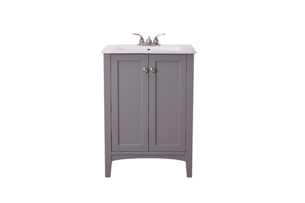 Elegant Decor Mod Grey 24 Inch Single Bathroom Vanity Set ELED-VF-2006