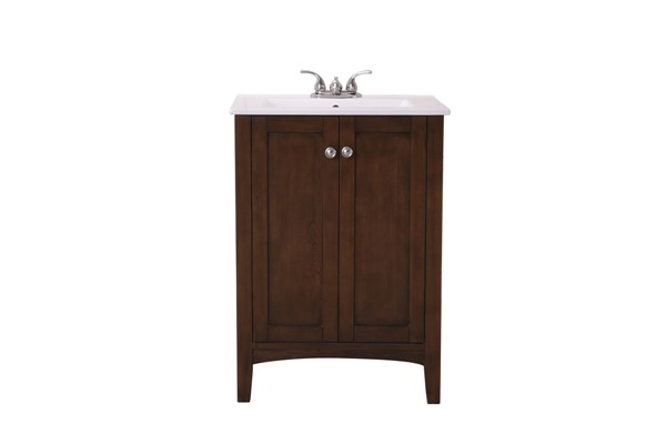 Elegant Decor Mod Coffee 24 Inch Single Bathroom Vanity Set ELED-VF-2007