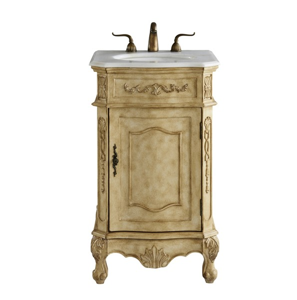 Elegant Decor Danville Beige 21 Inch Single Bathroom Vanity Set ELED-VF10121AB