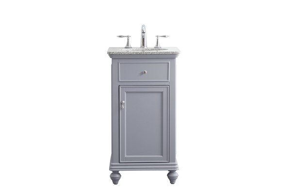 Elegant Decor Otto Light Grey 19 Inch Single Bathroom Vanity Set ELED-VF12319GR