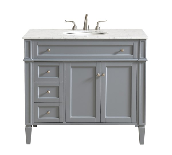 Elegant Decor Park Avenue Grey 40 Inch Single Bathroom Vanity Set The Classy Home