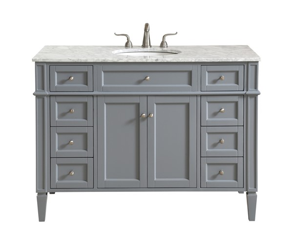 Elegant Decor Park Avenue Grey 48 Inch Single Bathroom Vanity Set ELED-VF12548GR