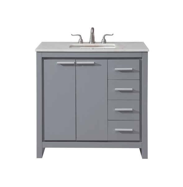 Elegant Decor Filipo 36 Inch Single Bathroom Vanity Sets ELED-VF12836-BA-VAR