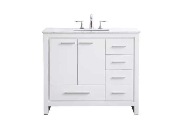 Elegant Decor Filipo White 40 Inch Single Bathroom Vanity Set The Classy Home