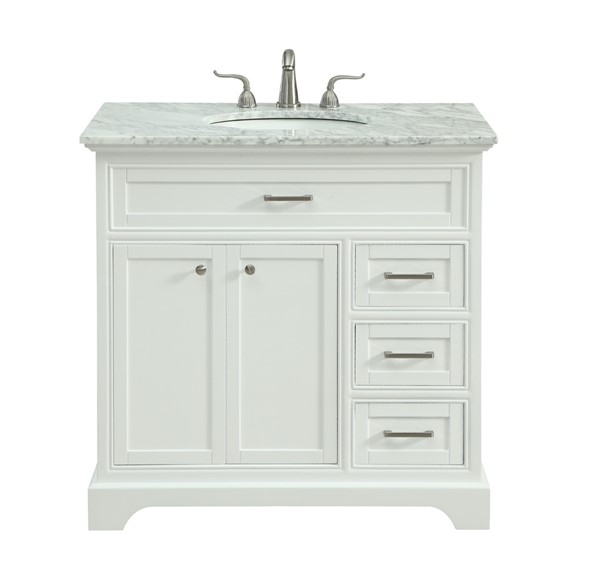 36 Inch Single Bathroom Vanity Set