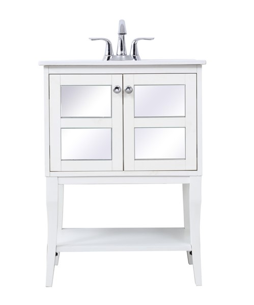Elegant Decor Mason 24 Inch Bathroom Mirrored Vanity Sets ELED-VF210-BA-MR-VAR