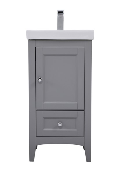 Elegant Decor Saturn Grey 18 Inch Single Bathroom Vanity Set ELED-VF2218GR