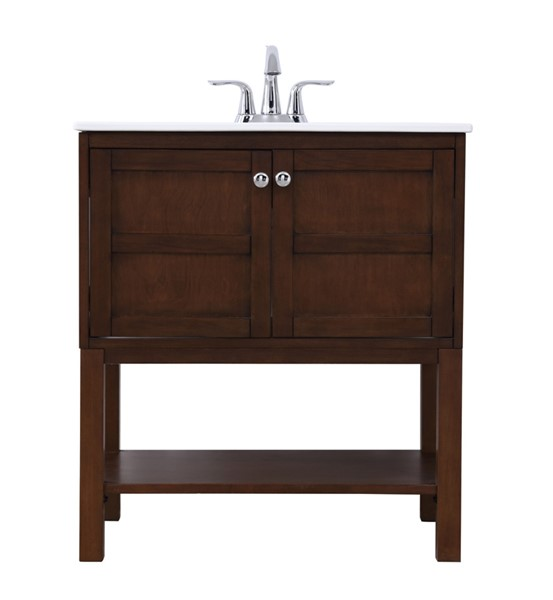 Elegant Decor Mason Coffee 30 Inch Single Bathroom Vanity Set ELED-VF2530AC