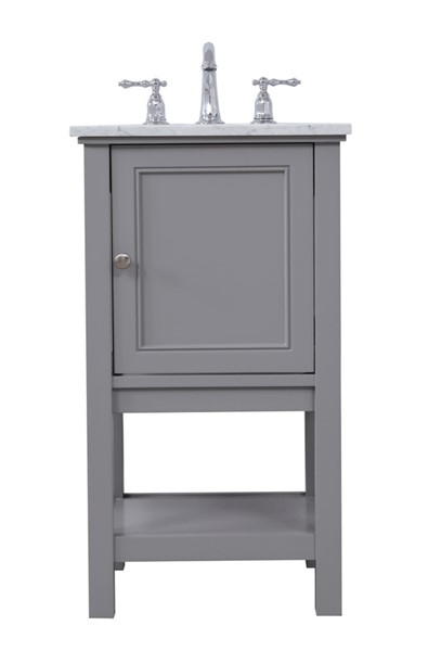 Elegant Decor Metropolis Grey 19 Inch Single Bathroom Vanity Set ELED-VF27019GR