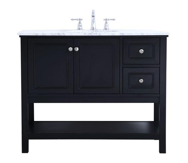 Elegant Decor Metropolis Black 42 Inch Single Bathroom Vanity Set The Classy Home