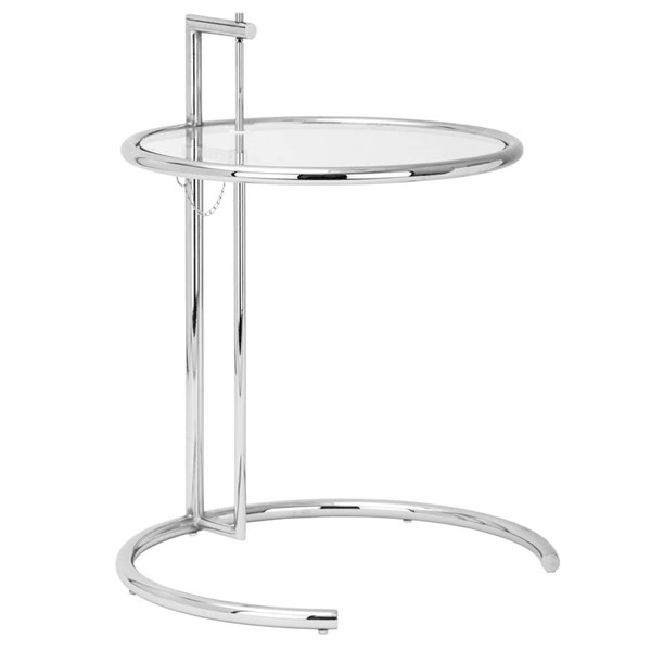 Poly and Bark Eileen Chrome Gray Side Table PNB-PB-130-SLV