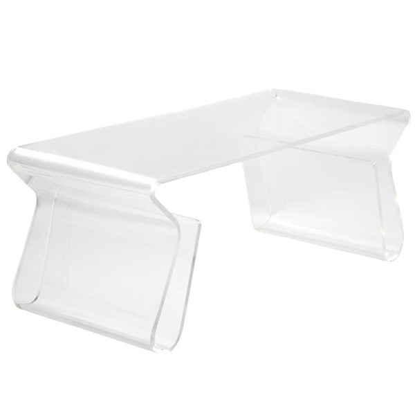 Poly and Bark Mag Clear Coffee Table PNB-PB-140-CLR