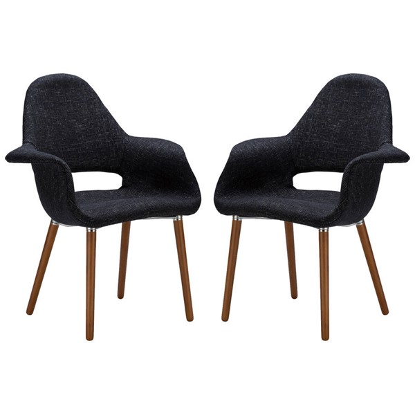 2 Poly and Bark Barclay Black Dining Chairs PNB-PB-141-BLK-X2