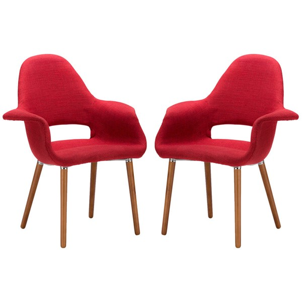 2 Poly and Bark Barclay Red Dining Chairs PNB-PB-141-RED-X2