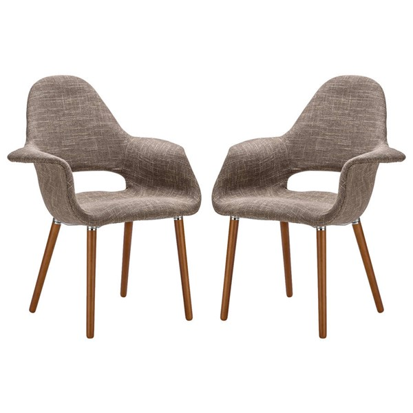 2 Poly and Bark Barclay Taupe Dining Chairs PNB-PB-141-TAU-X2