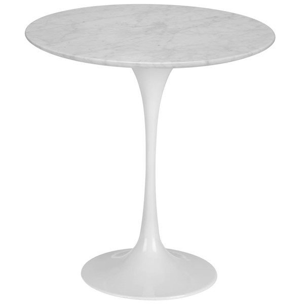 Edgemod Furniture Daisy White 20 Inch Marble Side Table EMD-EM-142-WHI