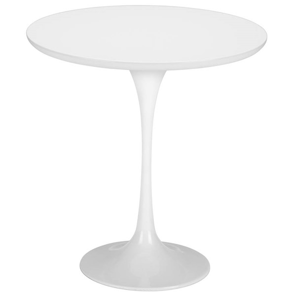 Edgemod Furniture Daisy White 20 Inch Wood Top Side Table EMD-EM-144-WHI