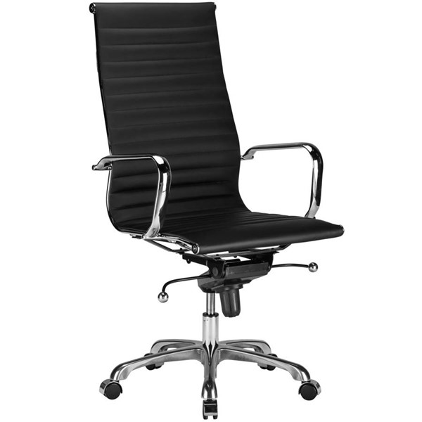 Edgemod Furniture Ribbed Black High Back Office Chair EMD-EM-182-BLK