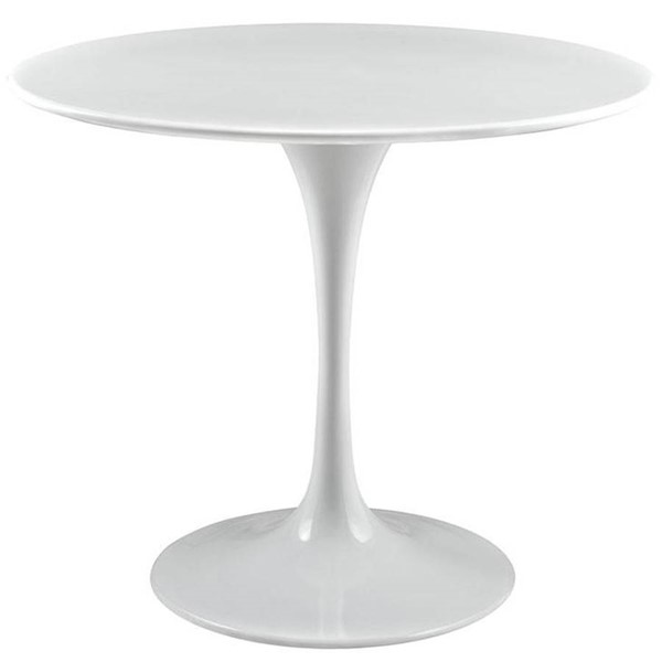 Poly and Bark Daisy White 36 Inch Wood Top Dining Table PNB-PB-204-WHI