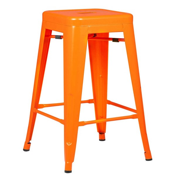 Edgemod Furniture Trattoria Orange 24 Inch Counter Height Stool EMD-EM-241-ORA
