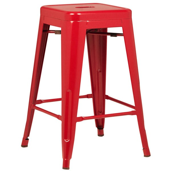 Edgemod Furniture Trattoria Red 24 Inch Counter Height Stool EMD-EM-241-RED