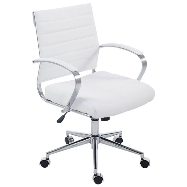 Poly and Bark Tremaine White Office Chair PNB-PB-252-WHI