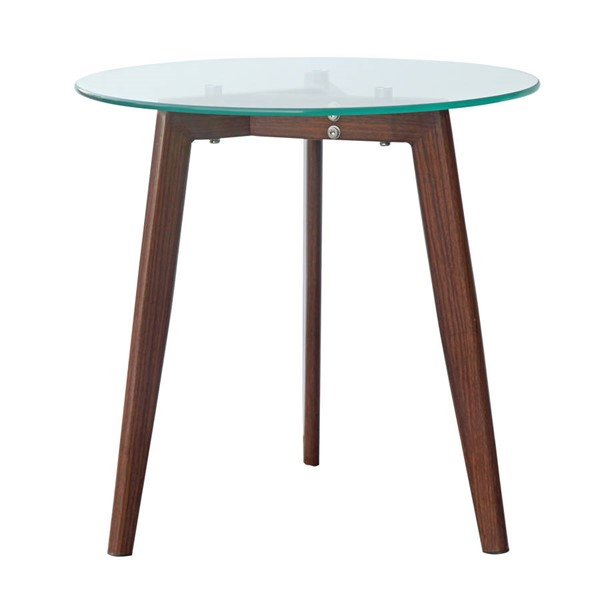 Poly and Bark Triskele Walnut End Table PNB-PB-280-WAL