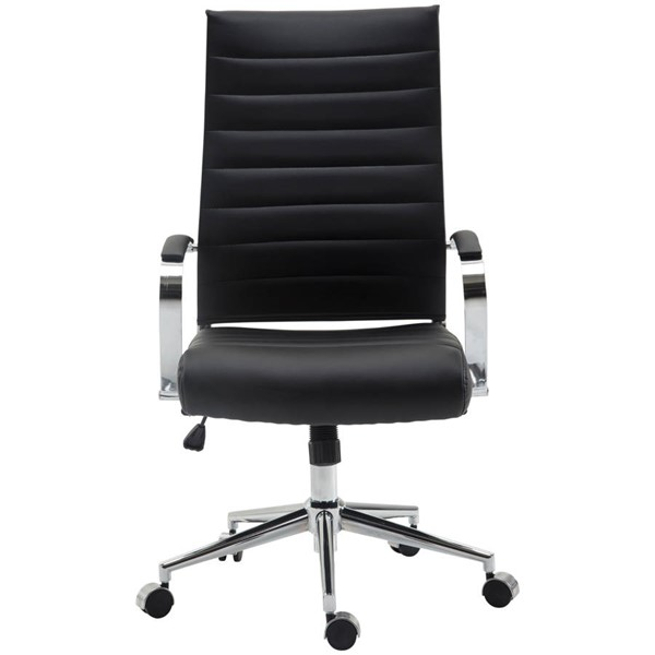 Poly and Bark Tremaine Black High Back Management Chair PNB-PB-290-BLK
