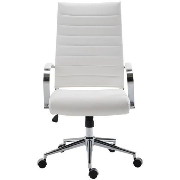 Edgemod Furniture Tremaine White High Back Management Chair EMD-EM-290-WHI
