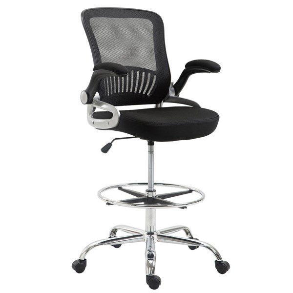 Edgemod Furniture Hargrove Black Drafting Chair EMD-EM-293-BLK