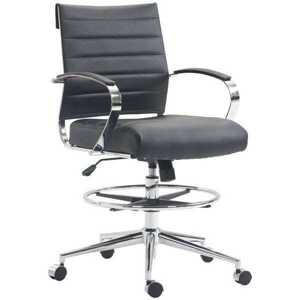 Poly and Bark Tremaine Black Drafting Chair PNB-PB-294-BLK