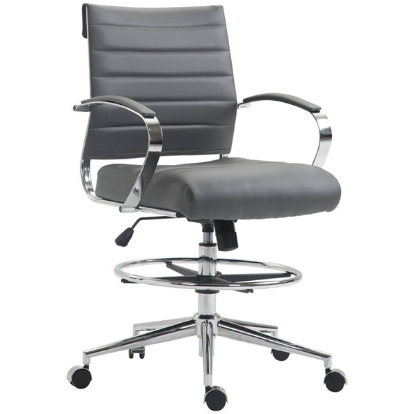 Poly and Bark Tremaine Grey Drafting Chair PNB-PB-294-GRY