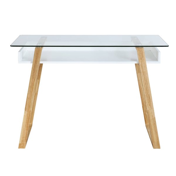 Edgemod Furniture Segovia Natural Glass Top Desk EMD-EM-299-NAT