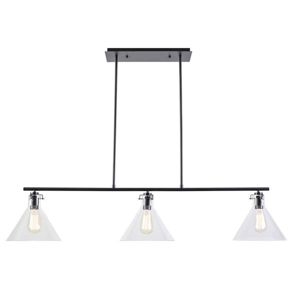 Edgemod Furniture Braxton Black Clear Chandelier EMD-LS-C106