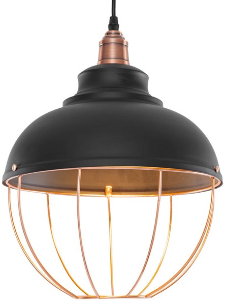 Edgemod Furniture Magritte Matte Black Copper Pendant Lamp EMD-LS-C146