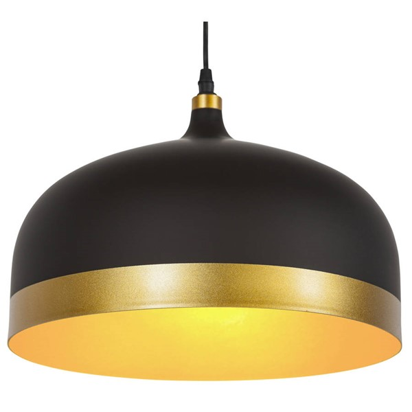 Edgemod Furniture Melaina Matte Black Gold Pendant Lamp EMD-LS-C170-BLK-GLD