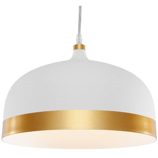Edgemod Furniture Melaina Matte White Gold Pendant Lamp EMD-LS-C170-WHI-GLD
