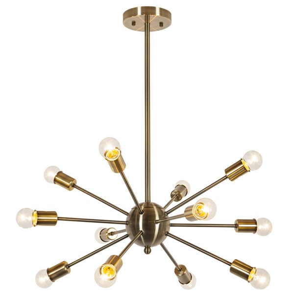 Edgemod Furniture Meridia Brass Sputnik Chandelier EMD-LS-C172-BRS