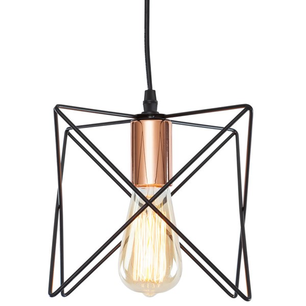 Edgemod Furniture Crampton Black Copper Pendant Light EMD-LS-C182-BLK-CPR