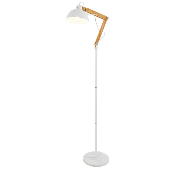 Edgemod Furniture Nestor White Natural Floor Lamp EMD-LS-F191-WHI