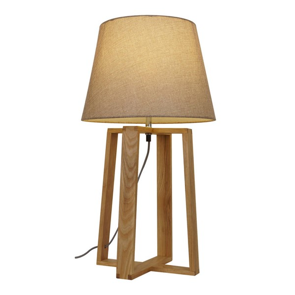 Edgemod Furniture Casparini Natural Linen Table Lamp EMD-LS-T161
