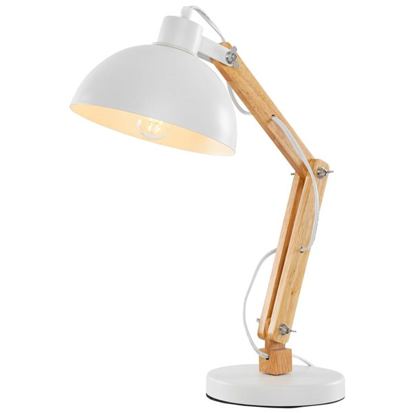 Edgemod Furniture Iskoff White Natural Table Lamp EMD-LS-T192-WHI
