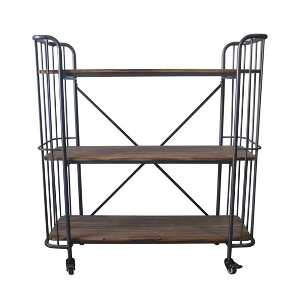Emerald Home Laurell Hill Gray 45 Inch Bookcase EMR-AC102-45