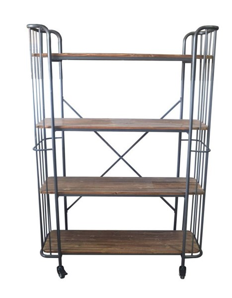 Emerald Home Laurell Hill Gray 60 Inch Bookcase EMR-AC102-60