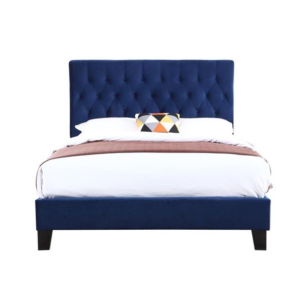 Emerald Home Amelia Navy Fabric Cal King Upholstered Bed EMR-B128-13HBFBR-14