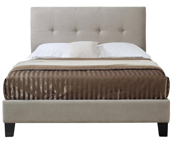 Emerald Home Harper Taupe Fabric Cal King Upholstered Bed EMR-B129-13HBFBR-05