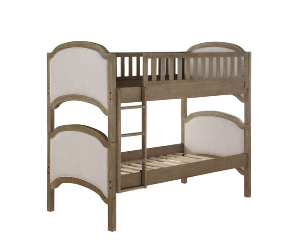 Emerald Home Chancellor Weathered Bark Twin Bunk Bed EMR-B207-17-K