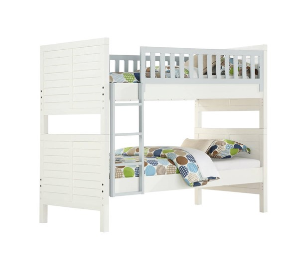 Emerald Home Ashlyn White Twin Bunk Bed EMR-B209-17-K