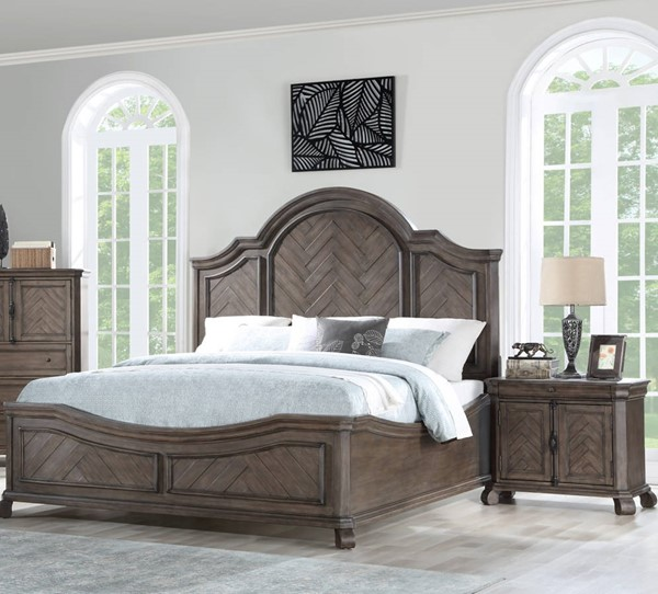 Emerald Home Knoll Hill Brown 2pc Bedroom Sets with Queen Bed EMR-B553-BR-S1